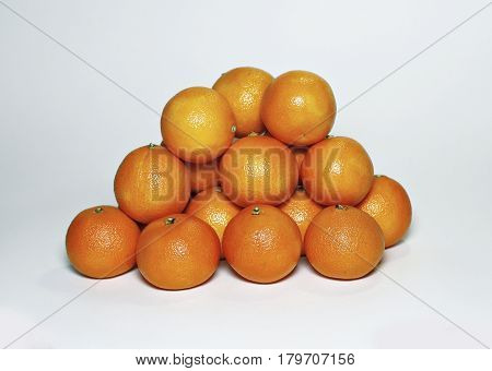 Many Moroccan tasty juicy sweet orange mandarins