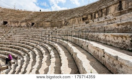 Roman Large South Theatre In In Gerasa Town