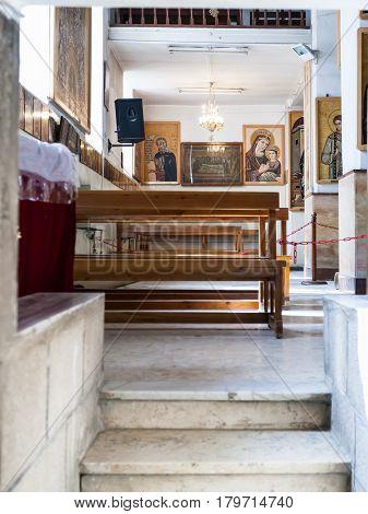 Inside Of Greek Orthodox Basilica Of St George