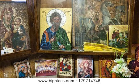 Iconostas In Greek Orthodox Basilica Of St George