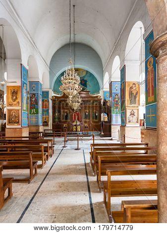 Indoor Of Greek Orthodox Basilica Of St George