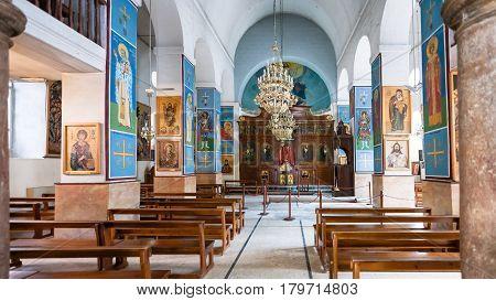 Interior Of Greek Orthodox Basilica Of St George