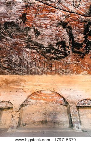Interior Of Royal Urn Tomb In Ancient Petra Town