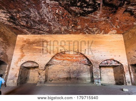 Inside Of Royal Urn Tomb In Ancient Petra Town