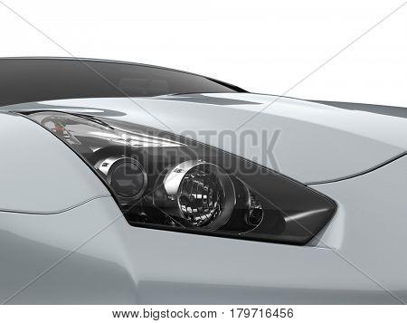 3D rendering brandless car light illustration