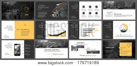 Elements for Presentation templates. Use in corporate style, flyer and leaflet, marketing, advertising, annual report, banner
