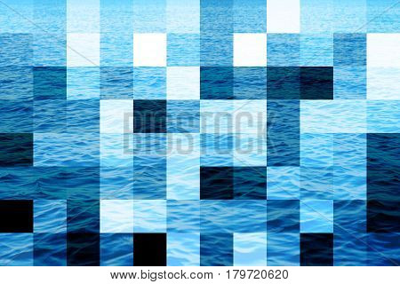 Abstract background Illustration water surface big pixel patches