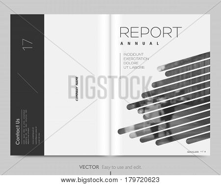 Cover design annual report. Vector template brochures, flyers, presentations, leaflet, magazine . Minimalistic design background