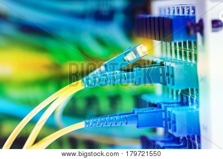 optical fibre information technology equipment in data center