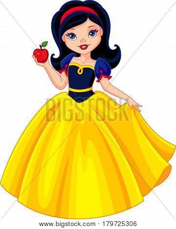 Princess Snow White holds the apple, EPS 8