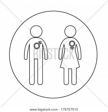 an images of Or pictogram Gender people icon