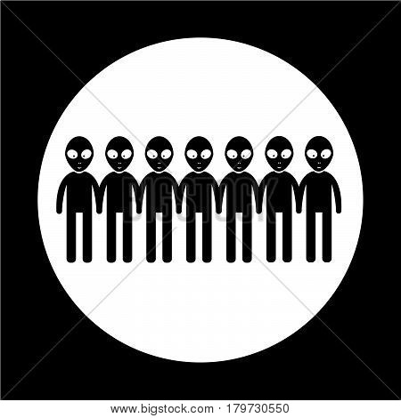 an images of Or pictogram Alien Icon