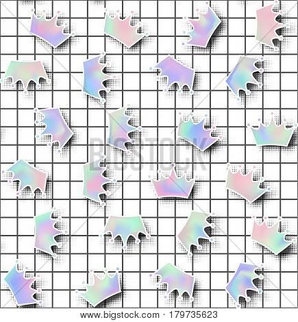 Holographic Effect Seamless Pattern.