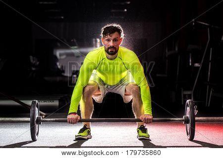 Sports Man Raises The Bar