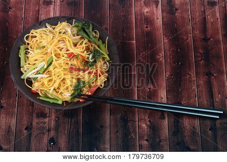 Sacred Foods,fried Chinese Noodle With Vegetable.