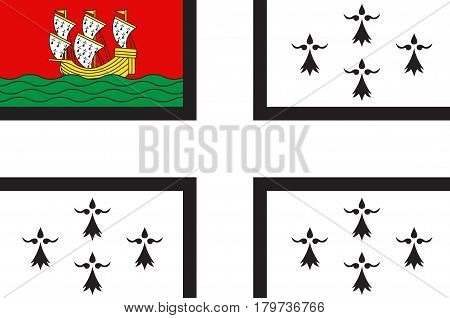 Flag of Nantes is a city in Pays de la Loire is a Region of France