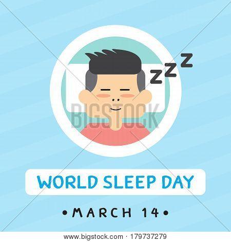 World sleep day , Vector cartoon design