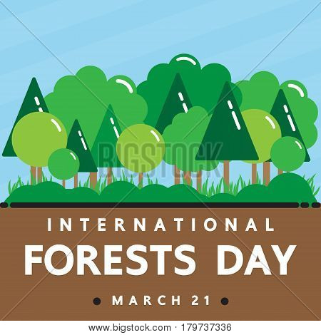 International day of forests . vector design for International day.