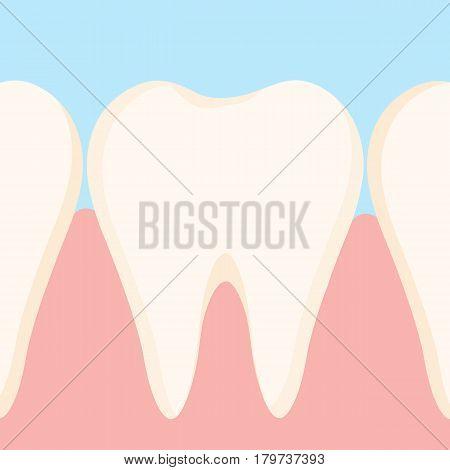 Dirty yellow tooth. vector cartoon design .