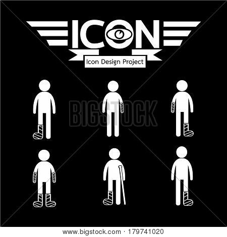 an images of Or pictogram People injury Icon