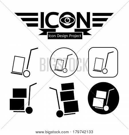 an images of Or pictogram Handcart Icon