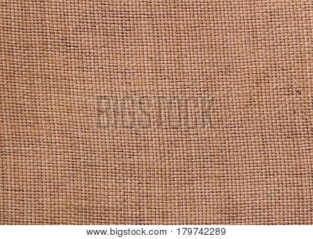 Rustic jute sackcloth fabric as texture background