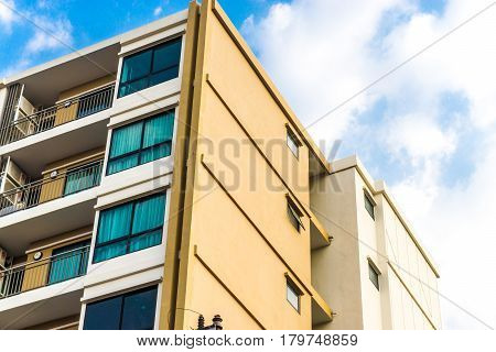 Apartment Residential Building In Modern City
