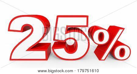Twenty Five Percent Off. Discount 25 %.