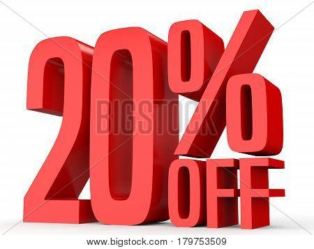 Twenty Percent Off. Discount 20 %.