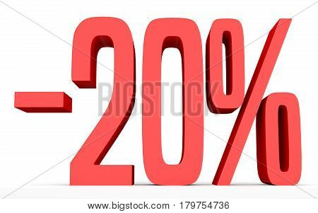 Minus Twenty Percent. Discount 20 %.