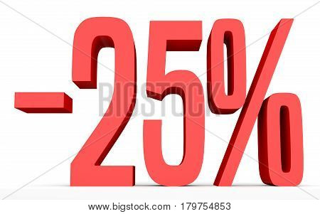 Minus Twenty Five Percent. Discount 25 %.
