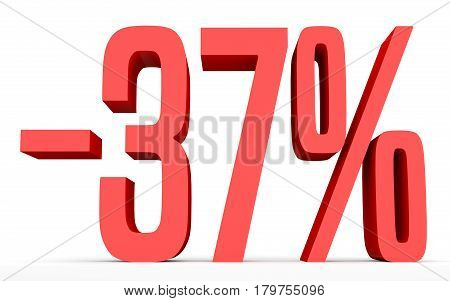 Minus Thirty Seven Percent. Discount 37 %.
