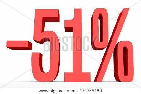 Minus Fifty One Percent. Discount 51 %.