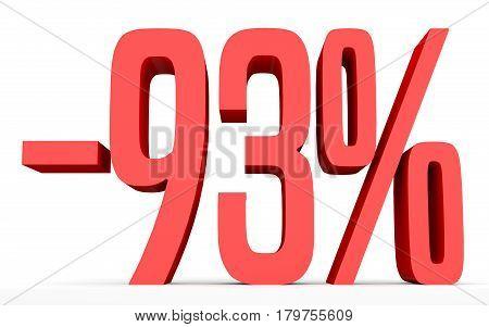 Minus Ninety Three Percent. Discount 93 %.