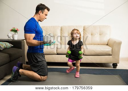 Father Training Her Daughter