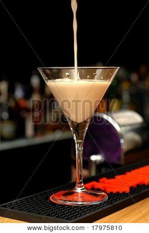 Cocktail in a martini glasses