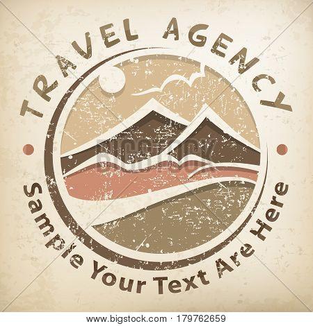 Travel Logo Grunge