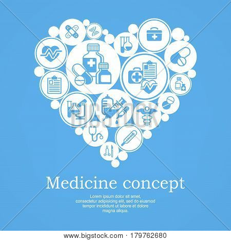 Medical Heart Concept Blue