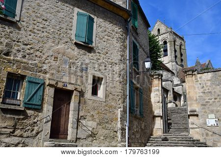Auvers sur Oise France - august 14 2016 : the picturesque village in summer