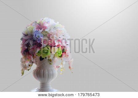 Beautiful flower vase, Flower vase on the light background.