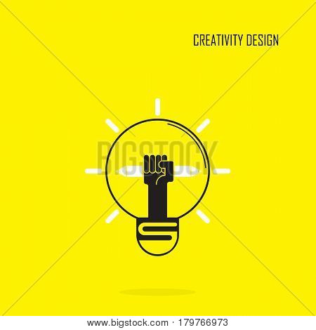 Creative bulb light idea and pencil hand iconflat design.Concept of ideas inspiration innovation invention effective thinking. Business knowledge and education concept.Vector illustration