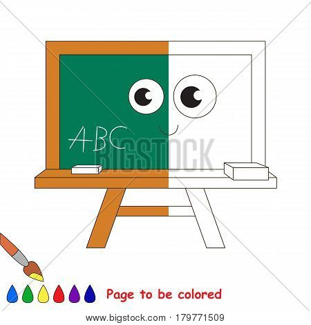 Funny Greenboard, the coloring book to educate preschool kids with easy gaming level, the kid educational game to color the colorless half by sample.