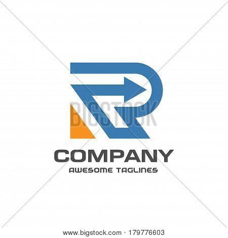 creative letter R with arrow logo. Abstract business logo design template. modern Letter R Logo template editable for your business.
