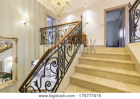 Stylish Interior With Marble Stairs