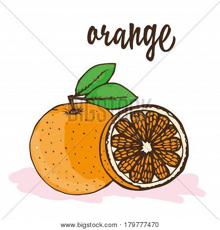 the orange is hand-painted in the context of