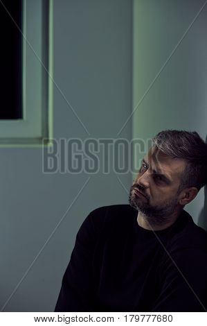 Depressed Middle-aged Man