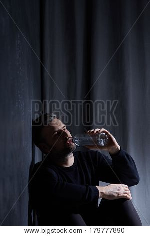 Depressed Lonely Drinker
