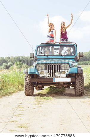 Girls In Off-road Vehicle