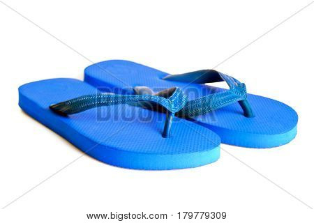 Rubber Embed With Plastic Sandal Or Slipper Product Isolated On White