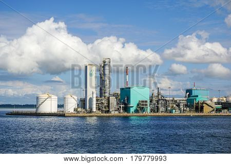 Labuan,Malaysia-Mac 25,2017:View of the Oil and gas industry,refinery factory petrochemical plant in Labuan,Malaysia on 25th Mac 2017.